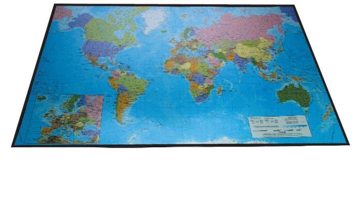 Mapa Birou 41 X 62 5 Cm  Buretata  Lands - Harta Lumii/europa