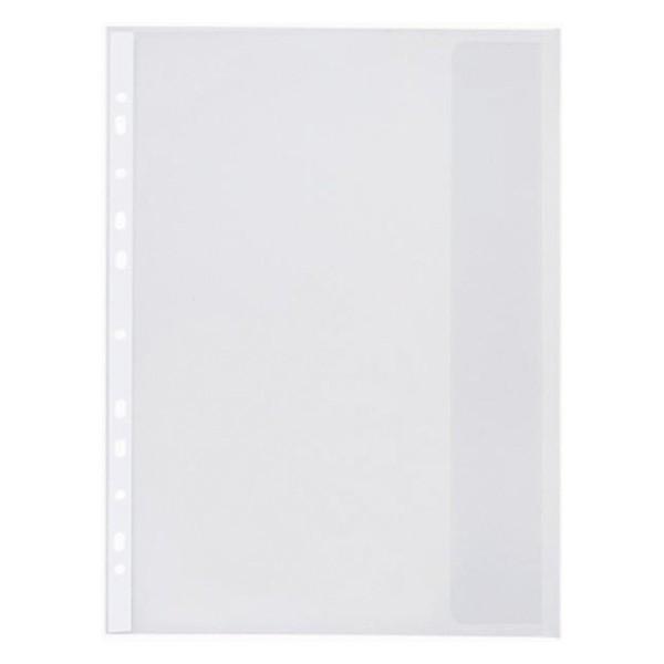 Folie Protectie Documente A4  Cu Clapa Laterala  140 Microni  10/set  Optima - Transparent