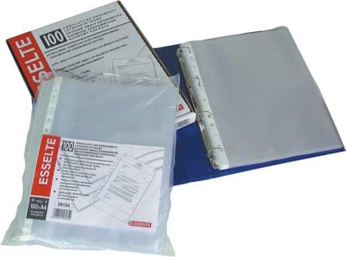 Folie Protectie Pentru Documente  38 Microni  100folii/set  Esselte - Transparent