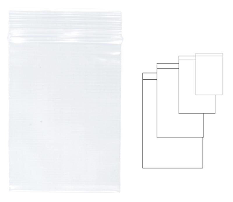Pungi Plastic Cu Fermoar Pentru Sigilare  40 X 60 Mm  100 Buc/set  Kangaro - Transparente