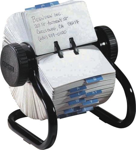 Fisier Rotativ - 500 Carduri 57 X 102mm Pentru Adrese  Rolodex - Negru