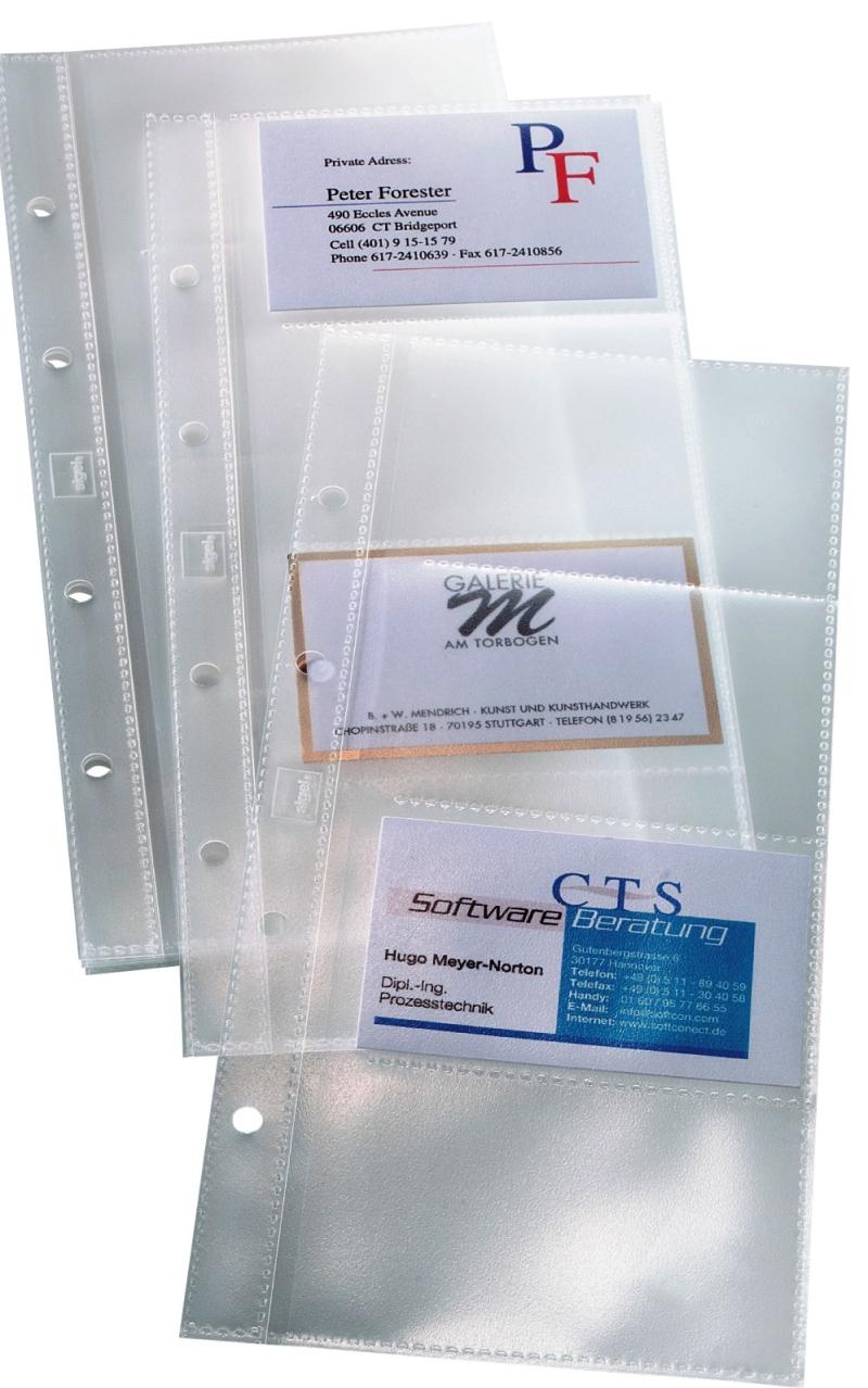 Rezerve Pentru 40 Carti De Vizita  10folii/set  Pentru Mapa Vz-300  Sigel - Transparente