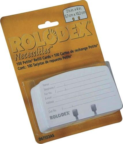 Rezerve Albe Pentru Modele Cu Carduri 57 X 102mm  100buc./blister  Rolodex