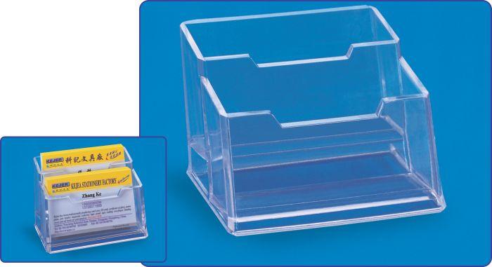 Suport Plastic Pentru 2 Seturi Carti De Vizita  Pentru Birou  Kejea - Transparent