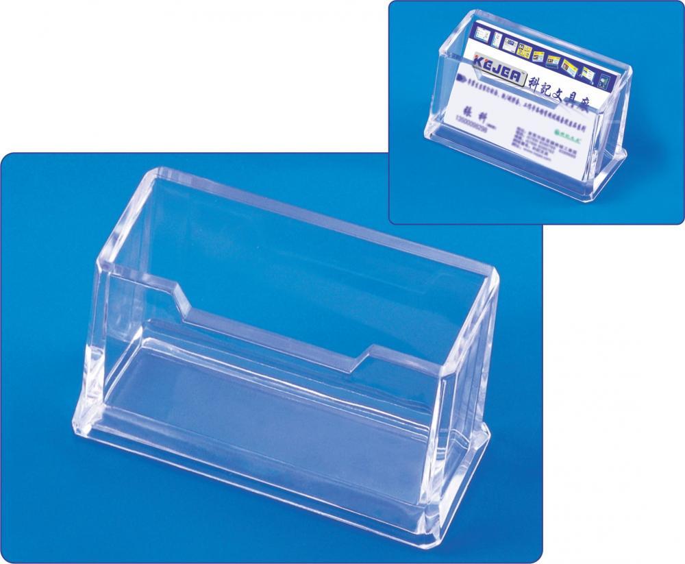 Suport Plastic Pentru 1 Set Carti De Vizita  Pentru Birou  Kejea - Transparent