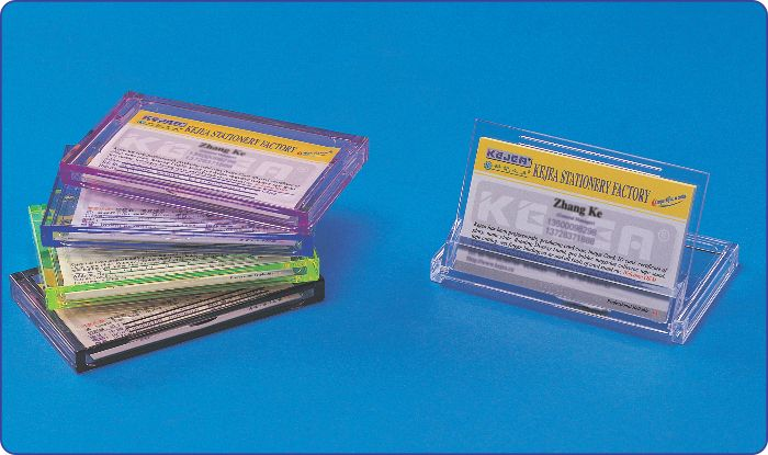Port Carti De Vizita Din Plastic  De Buzunar  Forma Plata  108 X 65mm  Kejea - Transparent