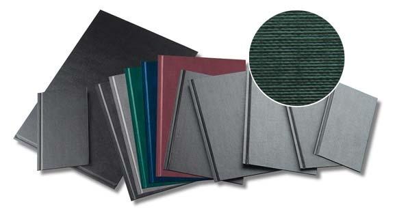 Coperti Rigide A4-landscape  Structura Panzata  20 Buc/set  Metal-bind Opus - Negru
