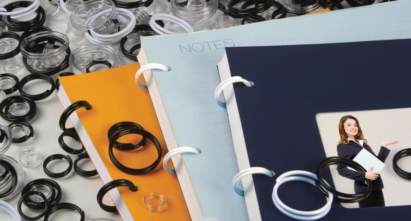 Inele Plastic Pentru Legat  20 Mm  40buc/cut  Opus Easyring - Alb