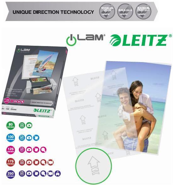 Folie Pentru Laminare  A4 250 Microni 100 Folii/top Leitz