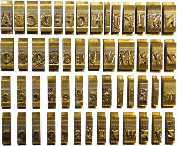 Set Litere Cu Font Latin Standard  9 Mm  34 Litere/set  Opus