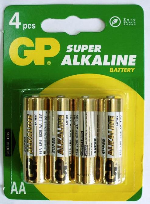 Baterii Alkaline R6  Aa  1 5v  4buc/set - Gp