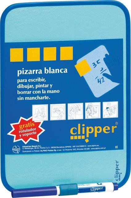 Tablita Pentru Scris 44 X 55 Cm + Marker  Clipper - Alba