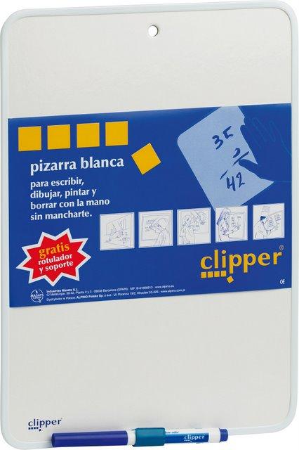 Tablita Pentru Scris 35 X 25 Cm + Marker  Clipper - Alba