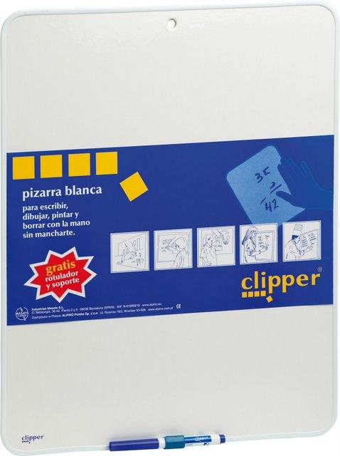 Tablita Pentru Scris 25.5 X 18 Cm + Marker  Clipper - Alba