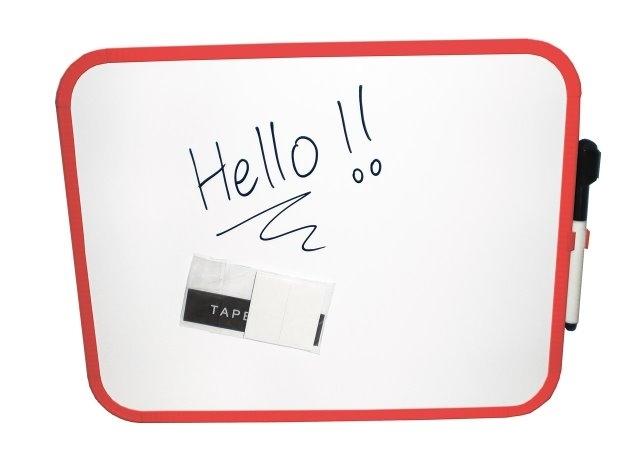 Tablita Magnetica Alba  Pentru Scris  27.9 X 35.6 Cm + Marker  Clipper - Culori Rame - Asortate