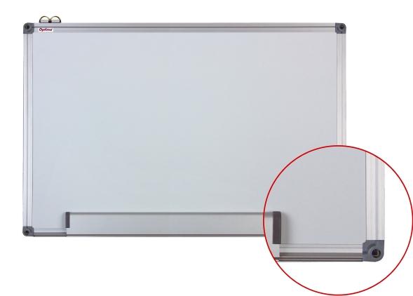 Tabla Alba Magnetica Cu Rama Din Aluminiu  100 X 150 Cm  Optima