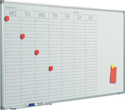Planner Saptamanal  60 X 120 Cm  Profil Aluminiu Sl  Smit