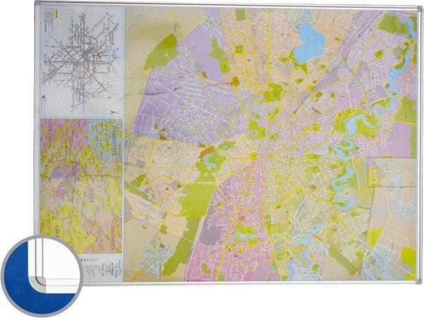 Harta Bucuresti (rutiera) 100 X 140 Cm  Profil Magnetic