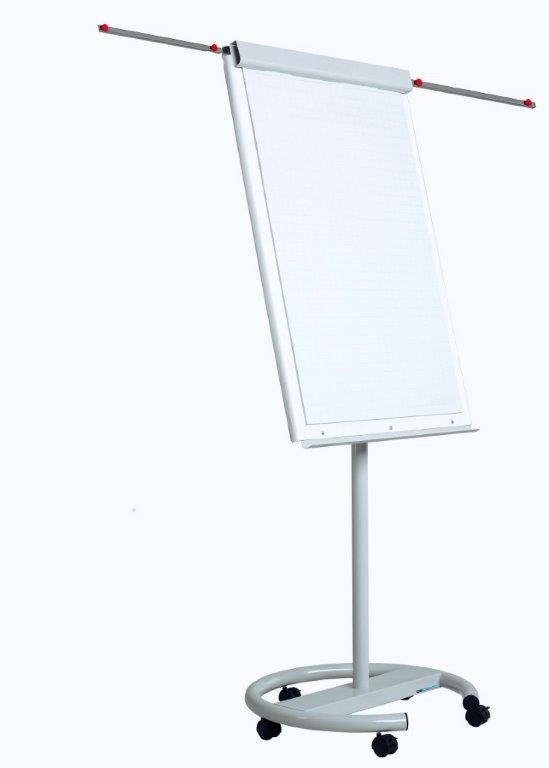 Flipchart Magnetic  100 X 70 Cm  Cu Brate Laterale  Cu Rotile  Optima Vision