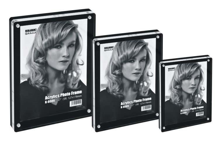 Display Acrilic Cu Magneti  Pentru Fotografii  127 X 89mm  Kejea - Transparent/negru