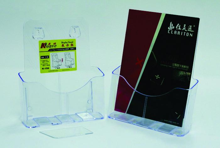 Display Plastic Pentru Brosuri  De Birou/perete  1 X A4-portrait  Kejea - Transparent