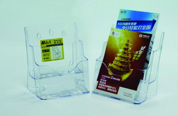 Display Plastic Pentru Brosuri  De Birou/perete  2 X A5  Kejea - Transparent