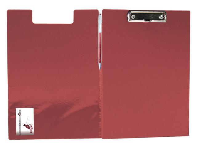Clipboard Dublu  Plastifiat Pvc  Kangaro - Rosu