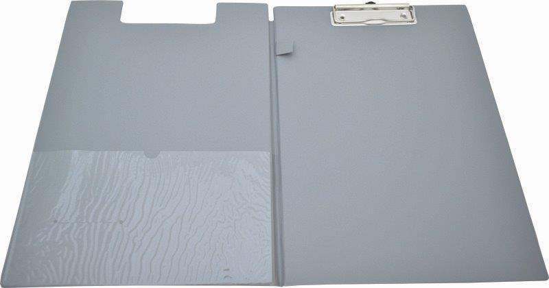 Clipboard Dublu  Plastifiat Pvc  Kangaro - Argintiu