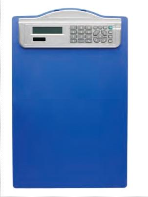 Clipboard Simplu A4  Din Plastic Rigid  Cu Calculator  Alco - Albastru