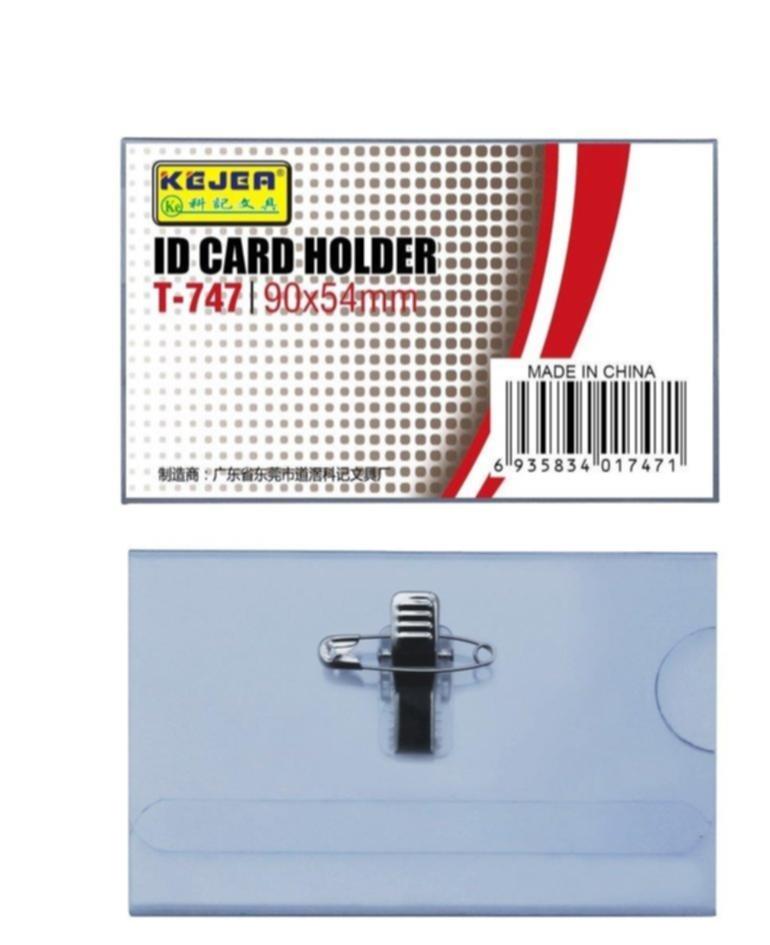 Ecuson Pvc  Pentru Nume  Cu Ac Si Clip  90 X 54mm  Kejea - Transparent