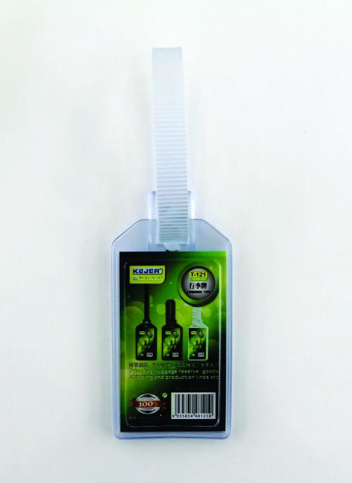 Porteticheta Din Pvc Flexibil Pentru Bagaje  54 X 90mm  Kejea - Transparent