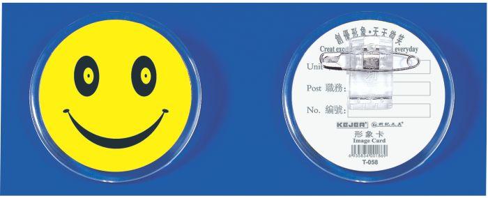 Ecuson Plastic Kejea - Smile  Forma Rotunda   Cu Ac Si Clips  D55mm