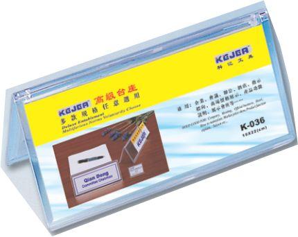 Display Nume Pentru Birou  Din Plastic  Forma A  100 X 220mm  Kejea - Transparent