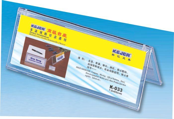 Display Nume Pentru Birou  Din Plastic  Forma A  72 X 200mm  Kejea - Transparent