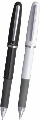Pix Cu Gel Penac Fx-2  Rubber Grip  0.7mm  Corp Alb - Scriere Neagra