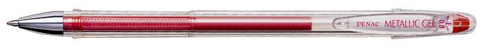 Pix Cu Gel Penac Fx-3 Metalic  0.8mm  Con Metalic  Corp Transparent - Scriere Rosu Metalizat