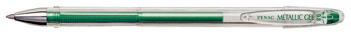 Pix Cu Gel Penac Fx-3 Metalic  0.8mm  Con Metalic  Corp Transparent - Scriere Verde Metalizat