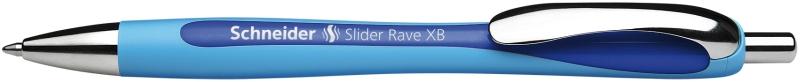 Pix Schneider Slider Rave Xb  Rubber Grip  Accesorii Metalice - Scriere Albastra