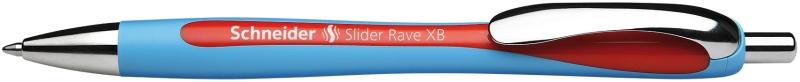 Pix Schneider Slider Rave Xb  Rubber Grip  Accesorii Metalice - Scriere Rosie