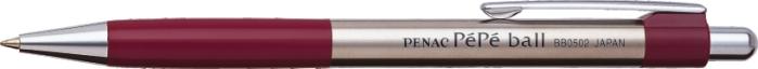 Pix Metalic Penac Pepe  Rubber Grip  0.7mm  Accesorii Bordeaux - Scriere Albastra