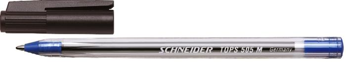 Pix Schneider Tops 505m  Unica Folosinta  Varf Mediu  Corp Transparent - Scriere Albastra