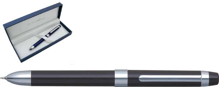 Pix Multifunctional De Lux Penac Ele-p  Doua Culori + Creion Mecanic 0.5mm - Corp Negru
