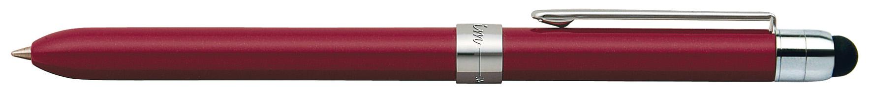 Pix Multifunctional De Lux Penac Slim Touch  In Cutie Cadou  Corp Bordeaux - Accesorii Argintii