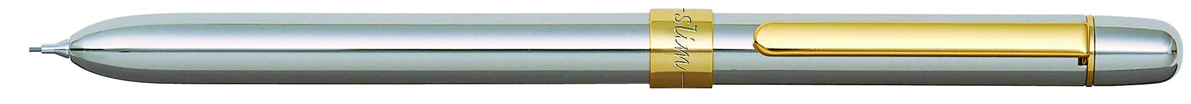 Pix Multifunctional De Lux Penac Slim  In Cutie Cadou  Corp Argintiu - Accesorii Aurii