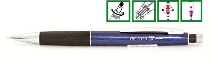 Creion Mecanic De Lux Penac Np Trifit 500  0.7mm  Varf Si Accesorii Metalice - Corp Bleumarin