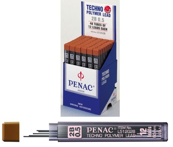 Mine Pentru Creion Mecanic 0 5mm  12/set  Penac - 2b