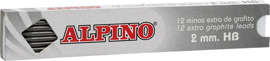 Mine Creion Mecanic 2mm  12buc/set  Alpino