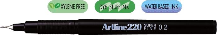 Liner Artline 220  Varf Fetru 0.2mm - Negru