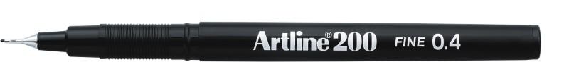 Liner Artline 200  Varf Fetru 0.4mm - Negru