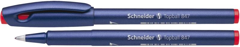 Roller Schneider Topball 847  Varf Cu Bila 0.5mm - Scriere Rosie